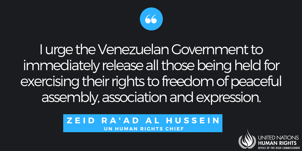 UN rights chief 'deeply concerned' by detention of opposition leaders
